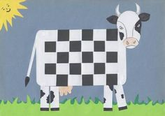Kráva – papírové tkaní