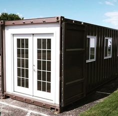 Container House Wood Tiny Homes – Shipping Container US Shipping Container Sheds, Shipping Container Home Designs, Container House Design, Buy A Tiny House, Tiny House Living, Tiny House Design, Building A Container Home, Container Buildings, Prefab Homes