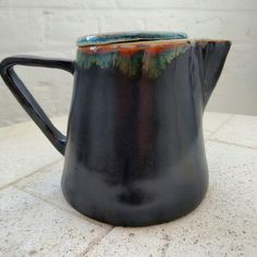 Ceramic coffee pot, Jupiter glaze