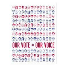 Our Vote = Our Voice Political Postcard #TrumpPence #TrumpResistance #trumpsamerica , back to school, aesthetic wallpaper, y2k fashion