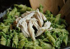 Toddler tastes: Green spinach pasta