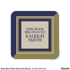 Book Name Plate Stickers