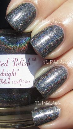 Midnight is a charcoal grey holo.