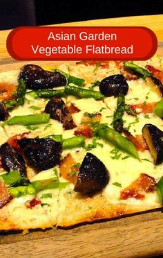 The perfect way to enjoy a lighter, guilt-free lunch that tastes like a sinful meal is to make a flatbread pizza. Give this Asian Garden Vegetable Flatbread a try!