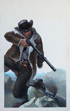 Adam Steele paperback cover (Original) art by William Francis Phillipps Archive
