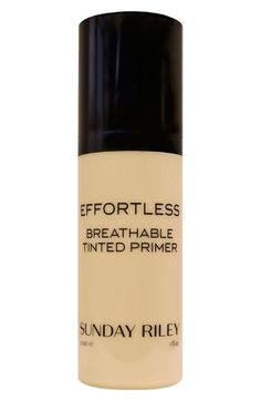Free shipping and returns on Sunday Riley 'Effortless' Breathable Tinted Primer at Nordstrom.com. The sheer and lightweight Effortless Breathable Tinted Primer oxygenates and plumps your skin, making it a smooth, flawless surface for precise foundation application. A multi-purpose formula with regenerating, anti-glycation peptides and sodium hyaluronate leaves skin fine-textured, polished, radiant and youthful while Rejuvenox keeps the perfecting primer completely ventilated and drenched in…