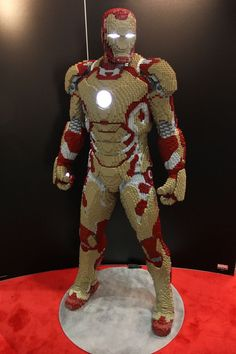 Iron Man out of legos.