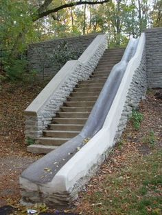Burnet Woods Stair Slide, I remember this from when I was 2 and we lived in Cincinnati. photo credit Queen City Survey: October 2008