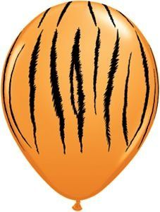"""Amazon.com: Single Source Party Supplies - 11"""" Tiger Stripes Latex Balloons Bag of 10: Toys & Games"""