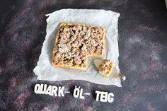 Gesunder Streuselkuchen mit Quark-Öl-Teig = fake Hefeteig ohne Aufgehen & vegan... Streusel ohne Butter, Weizenmehl und Zucker sondern aus Haferflocken