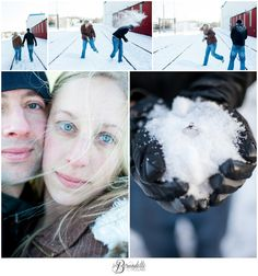 Snow Ball Fight! Minneapolis Engagement Session {http://fb.com/DetteSnaps.com}