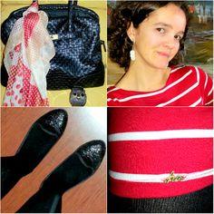 blog v@ LOOKS | por leila diniz: VESTIDO HERING listrado de vermelho e branco no look do dia inspirado na Lis Peixoto + DEUS