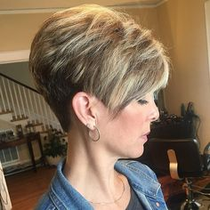 26 Easy Short Pixie Cuts for Chic Ladies Sassy Haircuts, Short Pixie Haircuts, Cute Hairstyles For Short Hair, Short Hair Styles, Teenage Hairstyles, Stacked Hairstyles, Short Wedge Hairstyles, Short Stacked Haircuts, Older Women Hairstyles