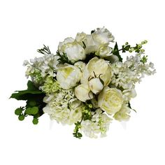 #WhitePeonies, #Roses, #Gardenias and #Lilac <<>> http://www.countryaccentfloralboutique.com/