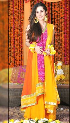 In some extent designers have solved this problem tactfully but their serving cannot be denied. On the Mehndi there are Lehnga's, Churidar's, Sharara's, ...