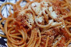 Spaghetti amatriciana - hoerup.
