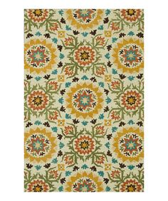 Another great find on #zulily! Ivory & Green Taylor Wool Rug by Loloi Rugs #zulilyfinds