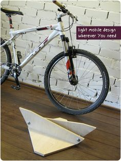 Bike holder Bicycle stand Bike rack wooden bike accessories