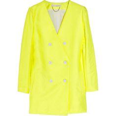 Vanessa Bruno Woven-twill jacket ($265) ❤ liked on Polyvore