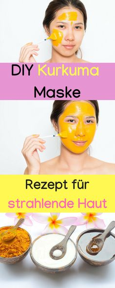 Turmeric mask for radiant skin, turmeric mask against pimples, turmeric mask - Hausmittel - Hautpflege Pimple Mask, Pore Mask, Acne Face Mask, Acne Skin, Diy Face Mask, Pimples, Rosacea, Turmeric Health, Turmeric Face Mask