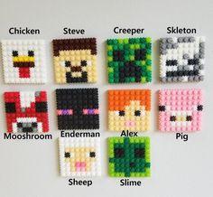 Mobs Minecraft, Craft Minecraft, Minecraft Beads, Minecraft Perler, Skins Minecraft, Minecraft Characters, Minecraft Party, Minecraft Activities, Minecraft Buildings