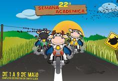 Campanha de divulgação para a Semana Académica da Universidade dos Açores, Concepção e ilustração de Mascote, criação de imagem para cartazes, outdoors e IDs