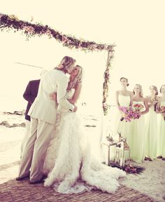 Key West Wedding by Lauren Ross and Nancy Cohn. Beautiful Ashley and Jay seal the deal