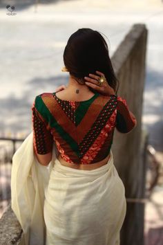 Blouse design ideas for your wedding and related ceremonies! Blouse design ideas for your wedding and related ceremonies! Kerala Saree Blouse Designs, Cotton Saree Blouse Designs, Stylish Blouse Design, Sari Blouse Designs, Designer Blouse Patterns, Fancy Blouse Designs, Bridal Blouse Designs, Latest Blouse Designs, Cooler Look