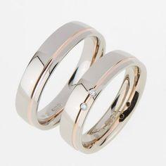 trouwring bicolor - Google zoeken Matching Wedding Bands, Wedding Ring Bands, Couple Bands, Gents Ring, Unusual Rings, Beautiful Wedding Rings, Alternative Engagement Rings, Bling Wedding, Band Engagement Ring