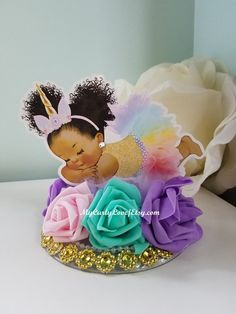 Boy Baby Shower Centerpiece/Gold and Baby Blue Baby Shower Unicorn Centerpiece, Diaper Cake Centerpieces, Birthday Centerpieces, Baby Shower Centerpieces, Unicorn Baby Shower, Baby Boy Shower, Rainbow Birthday, Unicorn Birthday, Baby Shower Cakes
