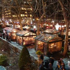 (We took in the Bryant Park Christmas Market on our November trip to NYC.slj) Located in midtown New York in the shadow of the Empire State Building. Best Christmas Markets, New York Christmas, Holiday Fun, Xmas, Christmas Travel, Magical Christmas, Christmas Time, Empire State Building, Travel Tips