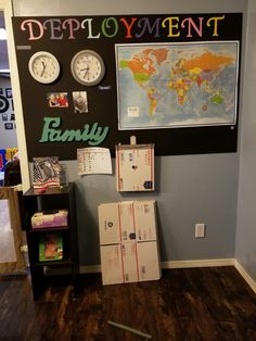 This wall has gotten us through some hard days. Army Life, Military Life, Easy Diy Crafts, Diy Crafts For Kids, Military Homecoming Signs, Military Home Decor, Deployment Countdown, Army Crafts, Deployment Care Packages