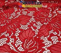 Ткань гипюр стрейчевый красный