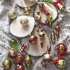 These look like classic Christmas ornaments. Remember when? Under the Mistletoe 60-pc. Ornament Collection