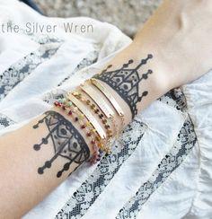 Gold Bar Bracelet, Personalized Bracelet, Boho Style Layering Bracelets, Stacking Bracelets, Gold Bracelets by TheSilverWren