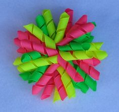 NEON Korker Hair Bow, Korker Hair Bow, Corker Hairbow, NEON Hair Bow, Hair Bow, Boutique Hair Bow, Pigtail Hair Bows, Hair Bow for Pigtails by LizzyBugsBowtique on Etsy