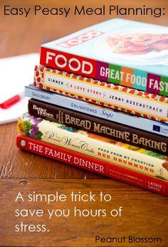 Simple Meal Planning | Peanut Blossom