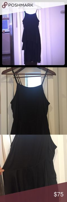 The Letter Dress Fabulous the Letter dress in black silk ...tiered black layers Letters by Zoe Dresses Midi