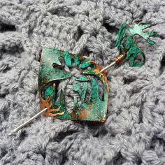 #oxidized #copper #pinshawl #patina #handmade #metalsmithing #jewelry #brooch