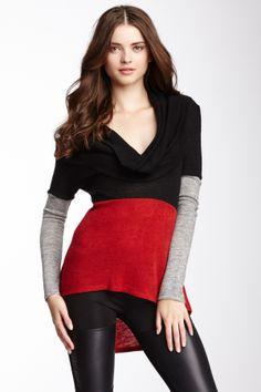 Cowl Neck Hi-Lo Sweater @Pascale Lemay De Groof