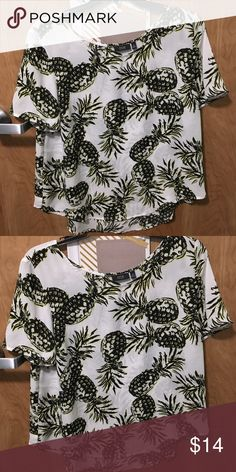 Chiffon pineapple blouse! Super cute Very dressy! Perfect for a night out Apt. 9 Tops Blouses