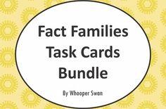 Fact Families Task Cards Bundle https://www.teacherspayteachers.com/Product/Fact-Families-2049081 #math #bundle #factfamily #factfamilies #TaskCards #scoot #tpt #teacherspayteachers #mathematics