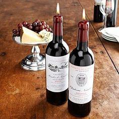 bougie thème de mariage vin