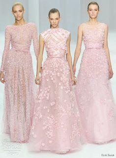 elie saab spring 2012 haute couture pink dresses