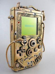 Je pense que vous le savez déjà: j'aime beaucoup le Steampunk ! En farfouillant sur le net je suis tombé sur une (ou un je ne sais plus comment on dit) Game Boy #Nintendo