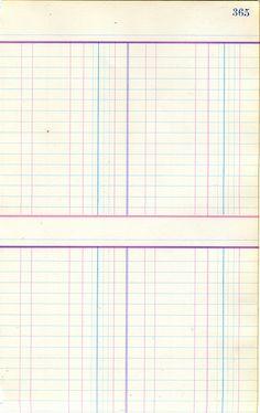 printable ledger paper