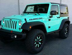 Pictures and description of a 2014 Jeep Rubicon Tiffany Blue. 2014 Jeep Rubicon, Jeep Wrangler Unlimited, Green Jeep Wrangler, Jeep Wrangler Grill, Jeep Wrangler Lifted, Jeep Wrangler Sahara, My Dream Car, Dream Cars, Cute Car Accessories
