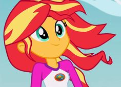 #1269056 - animated, cropped, equestria girls, legend of everfree, loop, safe, screencap, solo, spoiler:legend of everfree, sunset shimmer, wind - Derpibooru - My Little Pony: Friendship is Magic Imageboard