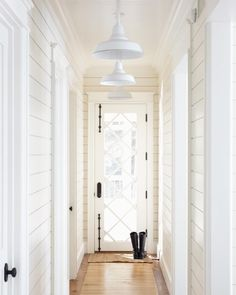 I really, really, really love this door. || Spaces I Love {Long, Planked Hallway}