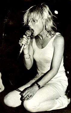 Blondie from Eat to the Beat - Atomic. http://www.youtube.com/watch?v=04VfsMOb8RA